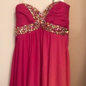 Ombré strapless dress